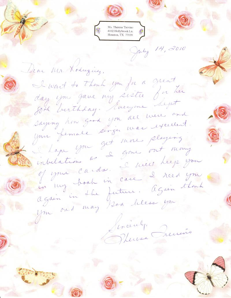 Theresa Treviño Letter